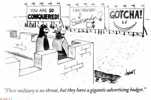 The Power of Marketing (New Yorker Cartoon)