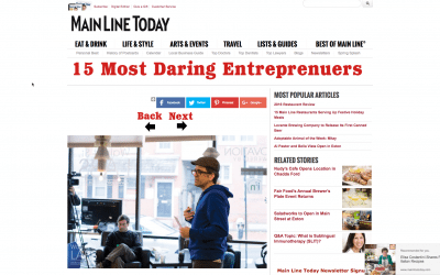 "One of Philly's ""15 Most Daring Entrepreneurs"""